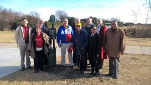 Plano Evening Lions Dedicate the Jack Carter Dog Run as a Part of their Legacy Project.